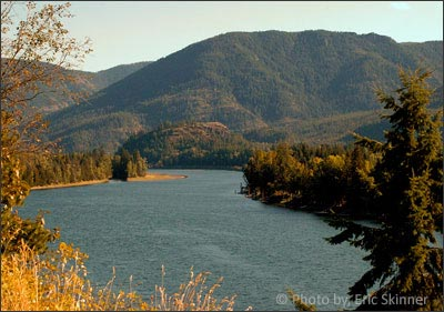 Clark Fork, Idaho is located at the mouth of the Clark Fork River where it spills into Lake Pend Oreille!