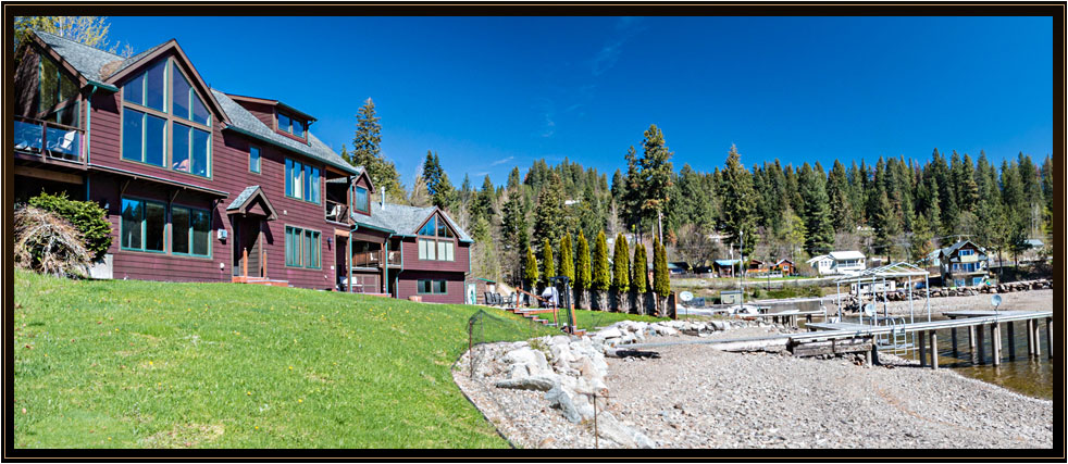 Lake Pend Oreille living at Garfield Bay with breathtaking views of the Green Monarchs & over 200 ft. of waterfront