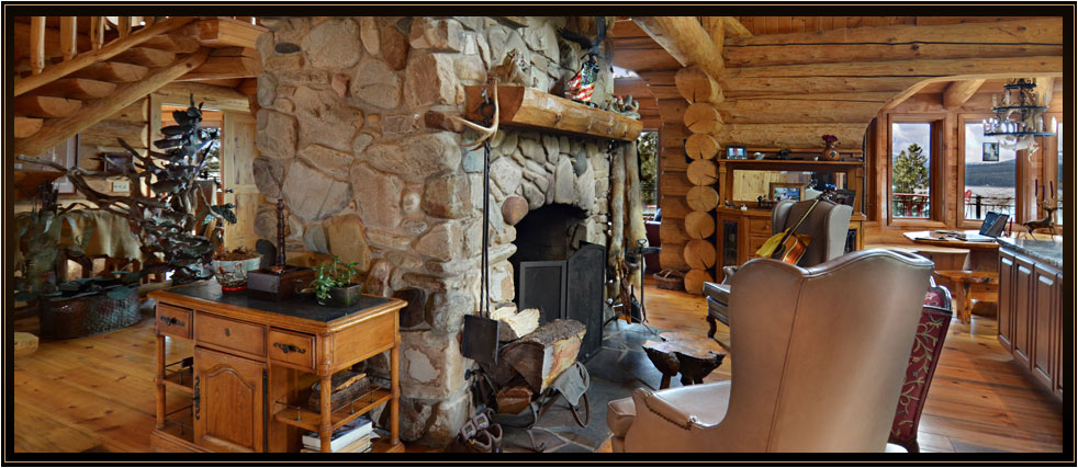 mountain log home overlooking the most breathtaking lake & scenery