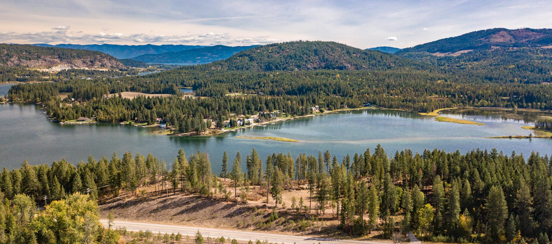 Two 4 acre Pend Oreille River view parcels