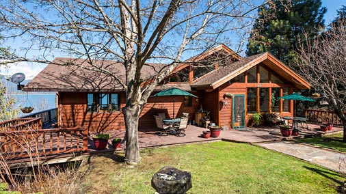 Beautiful Redwood home tucked back in a quiet cove with 260+ feet of private Lake Pend Oreille frontage