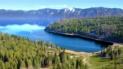 407 acres with over 3000 front feet of Lake Pend Oreille