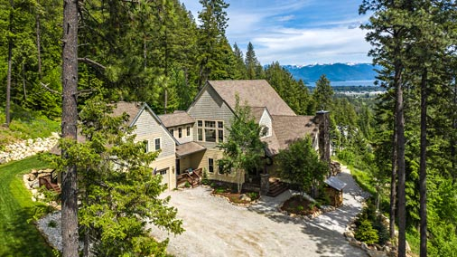 Konniotto Lane - Pend Oreille Lake View Home in Sandpoint for sale